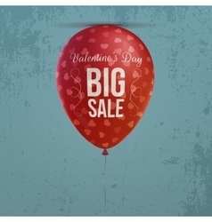 Valentines day realistic holiday red balloon vector