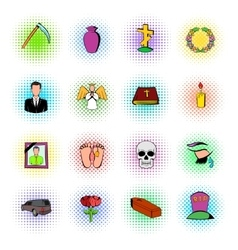 Death icon set vector
