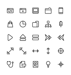 User interface colored line icons 19 vector