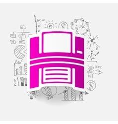 Drawing business formulas printer vector