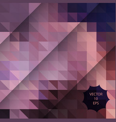 abstract background with pink colorful triangles vector image vector image