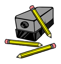 An electric pencil sharpener with pencils vector