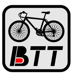 Btt sport emblem vector