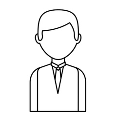 Businessman avatar line icon vector