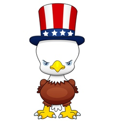 Cartoon American patriotic eagle vector image vector image