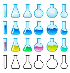 chemical science equipment vector image vector image