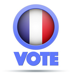 circle symbol of election 2017 in france vector image vector image