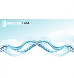 concept wave graphic card vector image vector image