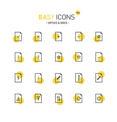 Easy icons 19d docs vector