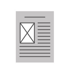 file paper document icon vector image vector image