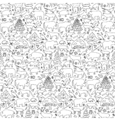 Forest Animals Seamless Pattern vector image vector image