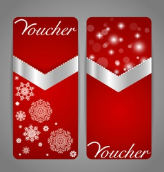 Gift coupon with gold ribbon vector image vector image