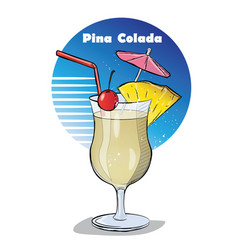 Hand drawn of cocktail vector