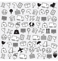 Line icons logistics icons logistics background vector