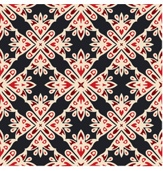 Luxury star damask seamless tiled motif pattern vector