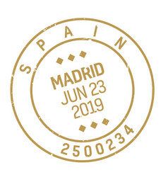 madrid postage stamp vector image