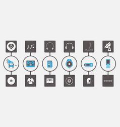 Music media infographic icon set vector