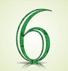 Number 6 design vector