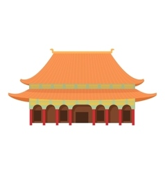 Pagoda temple icon cartoon style vector