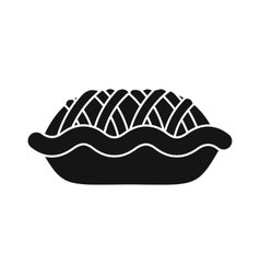 Pie icon in simple style vector