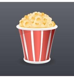 Realistic Popcorn Fast Food Icon Retro Cartoon vector image