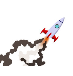 rocket launch to the sky vector image vector image