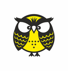 Scowling owl vector