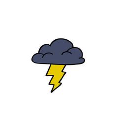 storm cloud doodle icon vector image