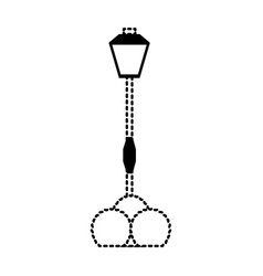 street light icon vector image vector image