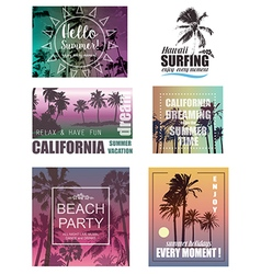 Summer Travel and Vacation Backgrounds vector image