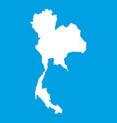 Thailand map icon white vector