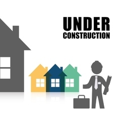 Under construction proffesional architect vector