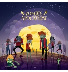 Zombie Apocalypse Background vector image vector image