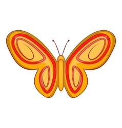 Summer butterfly icon cartoon style vector