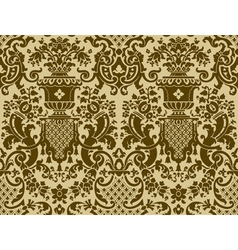 Seamless pattern in the style of baroque vector
