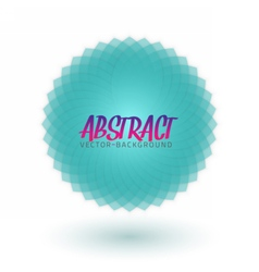 Abstract spectrum flower spirograph vector