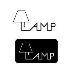 Table lamp flat linear logo for design vector