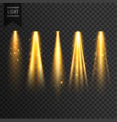 Realistic stage lights or concert spotlights vector