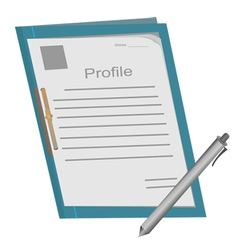 Profile folder1 vector