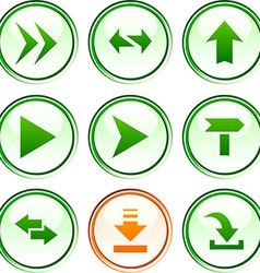 Arrows buttons vector