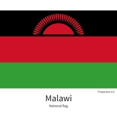 National flag of malawi with correct proportions vector