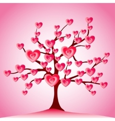 Valentine tree love leaf from hearts vector
