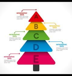 Creative info-graphics tree design concept vector