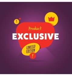 Exclusive product badge flat vector