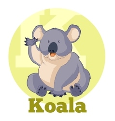 Abc cartoon koala vector