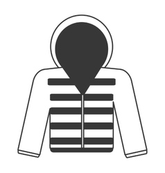 Winter jacket icon vector