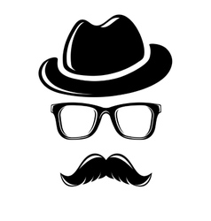 Hipster disguise set vector