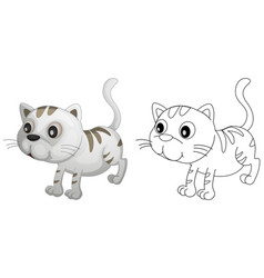 animal outline for cute cat vector image vector image