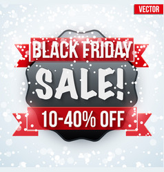 black friday sale badge and label vector image