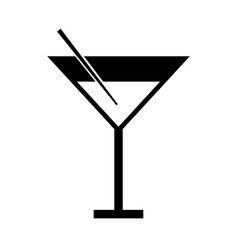 Black icon cocktail cartoon vector